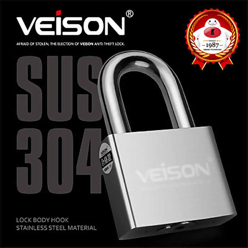 Veison PT5 Pintu Besi Kunci Gembok 304 Stainless Steel Asrama Pintu Lock Anti-Theft LOCK UNTUK Gudang Kamar Tidur Bingkai sepeda