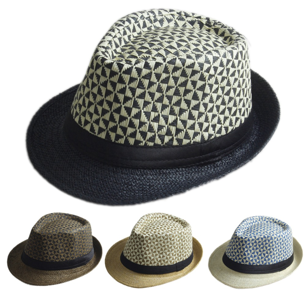 Fedora Sun Hat PANAMA Trilby Style Mens Ladies Bowler Party Sun Jazz Gangster
