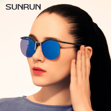 SUNRUN TOP Quality Steampunk Women Sunglasses Vintage Round Sun Glasses Women's Metal frameless brand design Glasses Oculos 9727