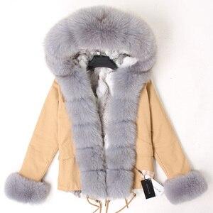 Image 5 - ขนสัตว์กระต่ายธรรมชาติเรียงรายไปด้วยผ้าฝ้ายเสื้อขนสัตว์หญิงฤดูหนาวWarm Parkผู้หญิงเสื้อผู้หญิงเสื้อผู้หญิงเสื้อขนสัตว์