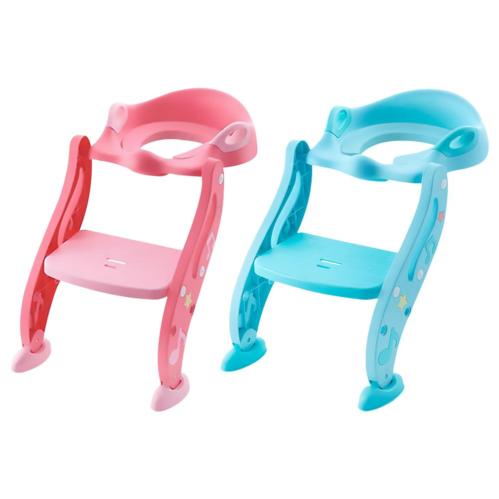 Kids Toddler Toilet Chair Potty Training Seat with Non-slip Step Stool Ladder US