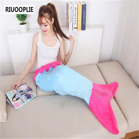 Girls Mermaid Tail Fleece Blanket Sleeping Bag Costume Valentine S Birthday Gift Free Shipping Blue Pink