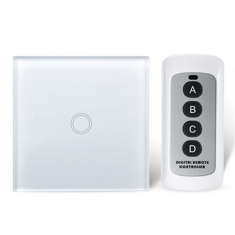 EU Standard Remote Control Switch 1 / 2 / 3 Gang 1 Way,Wireless remote control wall touch switch,Crystal Glass Switch Panel mvava eu standard remote control switch 3 gang 1 way wireless remote control wall touch switch crystal glass switch panel
