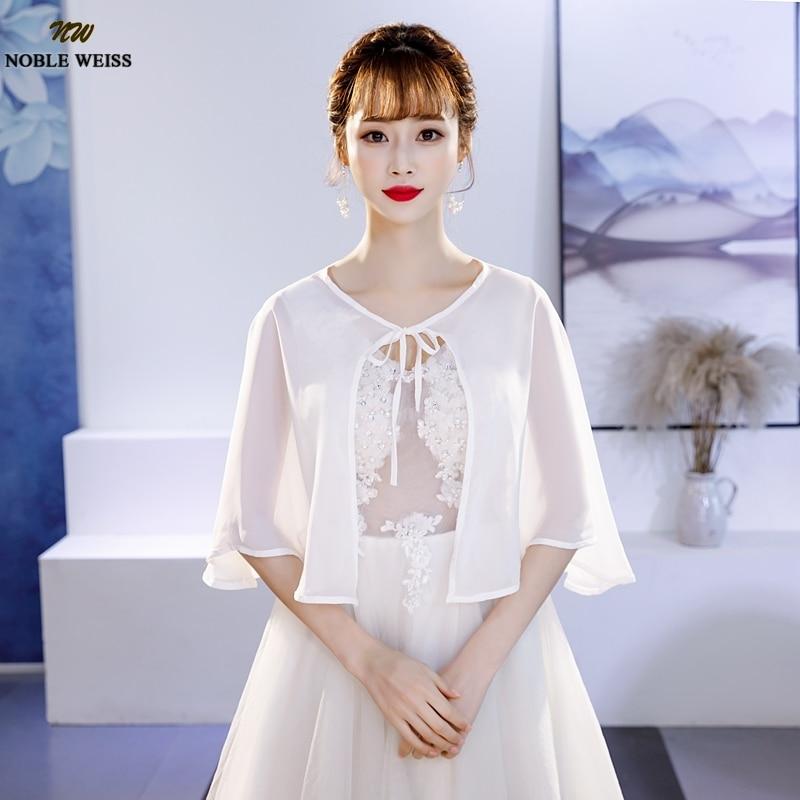 Elegant Chiffon Women Bolero Jacket For Summer One Size Red Black Cape Chaquetas De Fiesta Mujer Wedding Wrap Simple