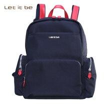 Пусть это будет Мода Ткань Оксфорд холст ноутбук сумка рюкзак школьный рюкзак повседневный Mochila