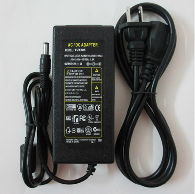 LCD Monitor Power Adapter Charger 12V5a Monitor Power Supply 3A LED Matching Test AdapterLCD Monitor Power Adapter Charger 12V5a Monitor Power Supply 3A LED Matching Test Adapter