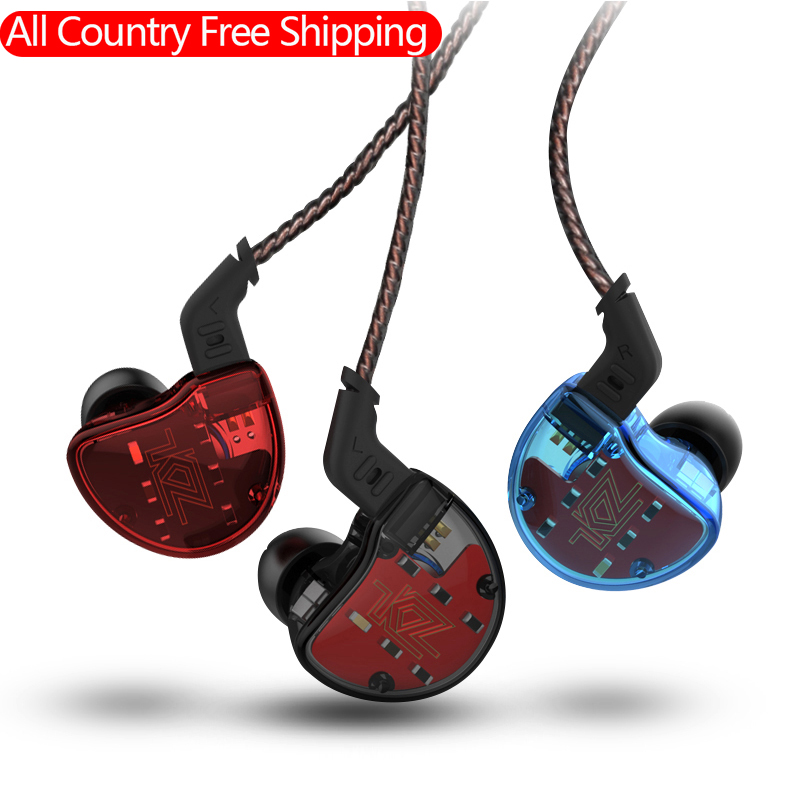 100% Original KZ ZS10 4BA with 1 Dynamic Hybrid In Ear Earphone HIFI DJ Monito Running Sport Earphone Earplug Headset Pre-sale kz ates ate atr hd9 copper driver hifi sport headphones in ear earphone for running with microphone game headset