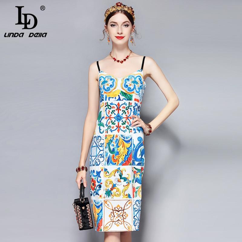 37e2c60fe9209 LD LINDA DELLA New 2018 Fashion Runway Summer Dress Women's ...