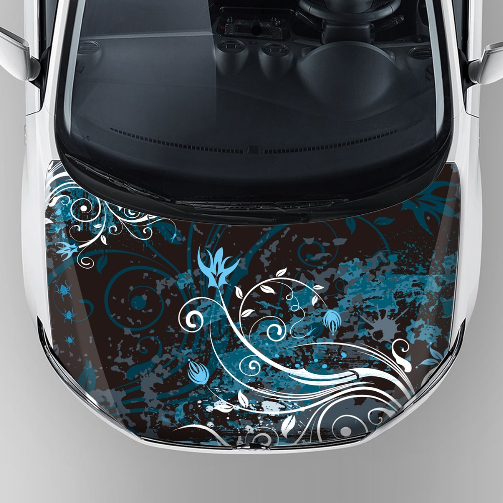 waterproof vinyl car wrap sticker decorative vinyl vehicle stickers car hood bonnet graphics decal stickers with self adhesive цена