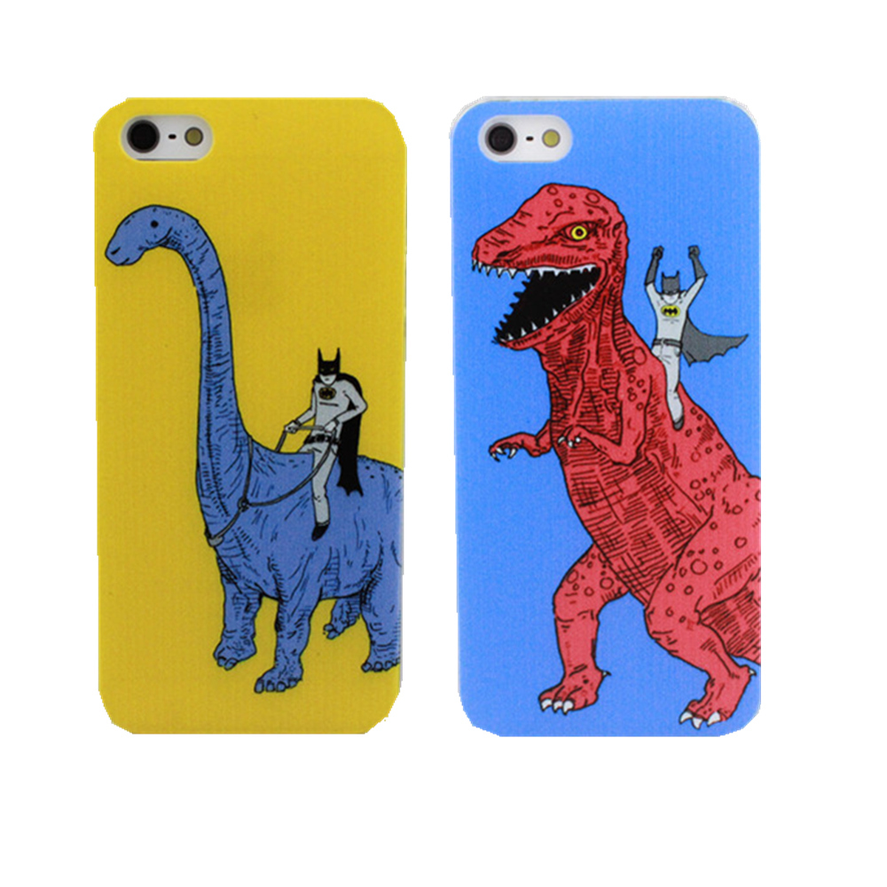 2016 New arrive Fashion Dinosaurs and batman Phone Case Cover For Apple i Phone iPhone 4 4S 5 5S SE 5C 6 6S 7 plus