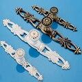 Pastoral Estilo Europeu Antigo Marfim Cor Branca Clássica Móveis Guarda-Roupa Gaveta Maçaneta Da Porta Do Armário Hardware Lida Com Maçaneta