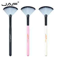 купить JAF 3 Colors Fan Shape Makeup Brush Face Powder Brush Synthetic Hair Professional Beauty Make Up Tools 07SWF дешево