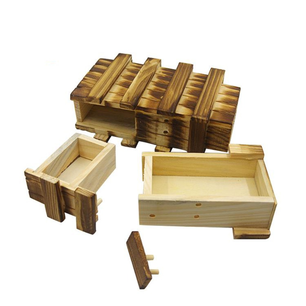 Funny Magic Secret Wood Drawer Wooden Puzzle Box Compartment Brain Teaser Educational Toy For Children Wood Puzzles Box
