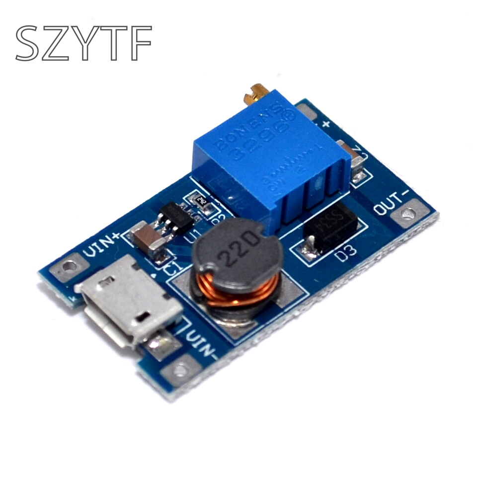 2a boost board DC-DC boost module Wide voltage input 2 / 24V L 5/9/12 / 28V adjustable 2577 for Arduino UNO ...