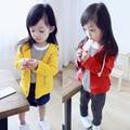 Niños niñas bebé chaqueta Con Cremallera Chaqueta de abrigo Con Capucha de algodón Terry niños movimiento