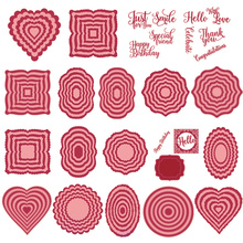 Heart Square Oval Circle Frame Metal Cutting Dies for Scrapbooking and Cards Making Paper Craft