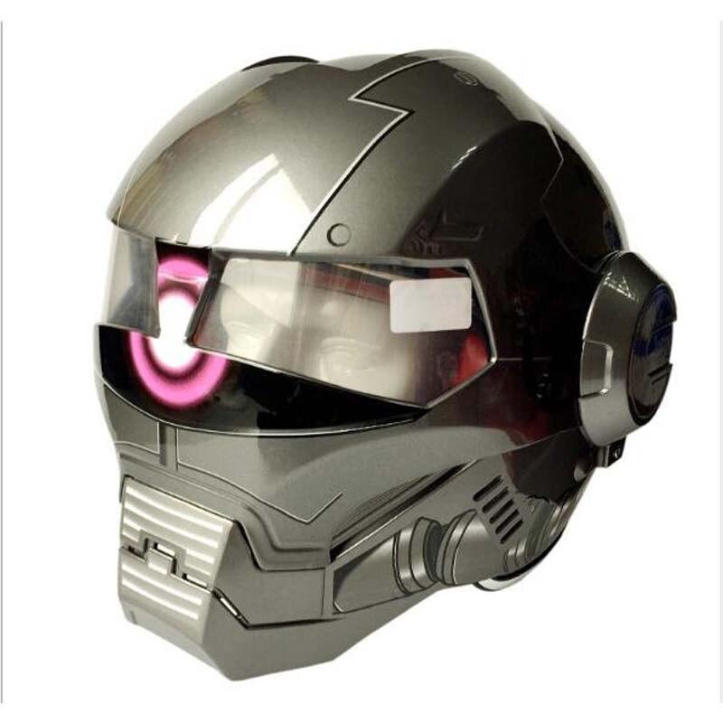 MASEI 610 personnaliser rétro moto fer homme casque, moto 3/4 ouvert visage masque casque pour hommes femme taille M L XL XXL