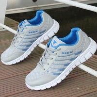 Unissex Mulheres Homens casal amante Formadores Running Shoes ceia fresco primavera verão Respirável Leves Athletic Shoes plus size 45 46