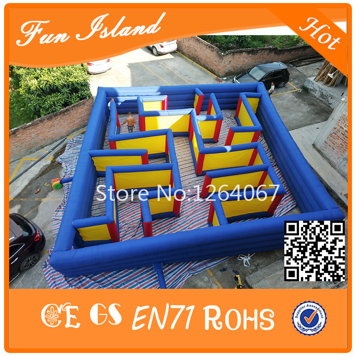 Grote Outdoor Labyrint Games Opblaasbare Doolhof Speelgoed Voor Koop, Fun Games Opblaasbare Puzzel Doolhof Spelletjes Voor Kinderen En Volwassenen - 4
