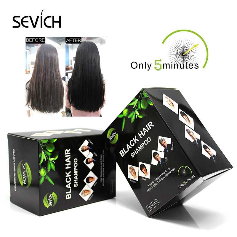 Sevich Hair-Shampoo Dye Remove Herb Blackening-Hair Only Faster Grey Into Coloring Natural