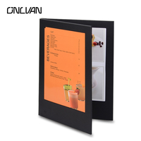 Four Page LED Restaurant Menu Covers A4 Size Cafe Menu List Folder Bar List Holder Covenience