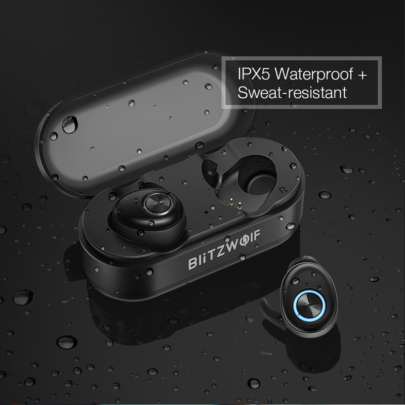 Auriculares Bluetooth, Auriculares Inalámbricos Bluetooth Sonido Estéreo Bilaterales In-Ear Bluetooth 5.0 con Caja de Carga Portátil - 4