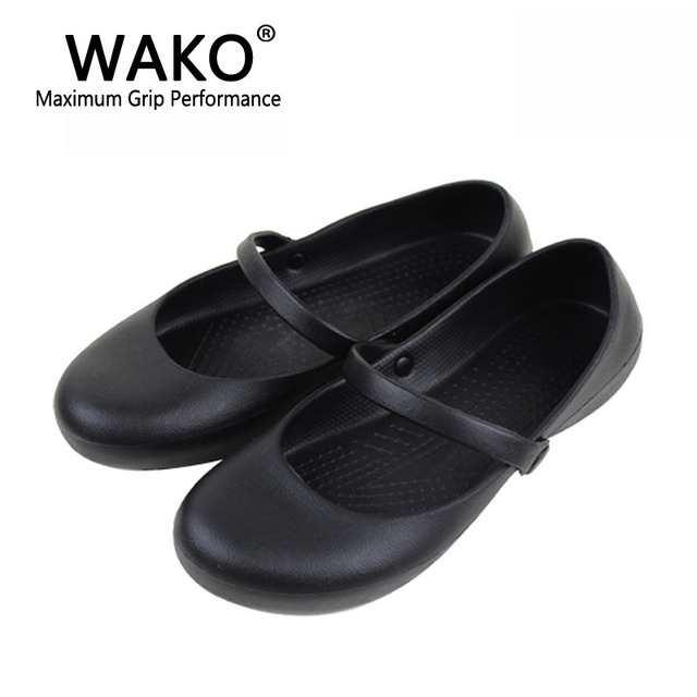 Marvelous Shoes For Kitchen #15 - WAKO Women Chef Shoes With Strap Oilproof Waterproof Shoes For Kitchen  Workers Black Cook Sandals For