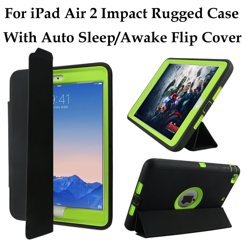 For Ipad 2 3 4 Air Pro Heavy Duty Armor Case Rugged Shockproof Hybrid Defender With Auto Sleep Awake Leather Smart Cover On Aliexpress Com Alibaba