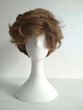Fantastic Beasts The Crimes of Grindelwald Newt Scamander Cosplay Wig Short Brown Curly Heat Resistant Hair Wigs +Wig Cap