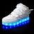 2016 niños y niñas calientes moda usb recargable led luz casual shoes/niños divertidos de flash de zapatillas/kids glowing shoes
