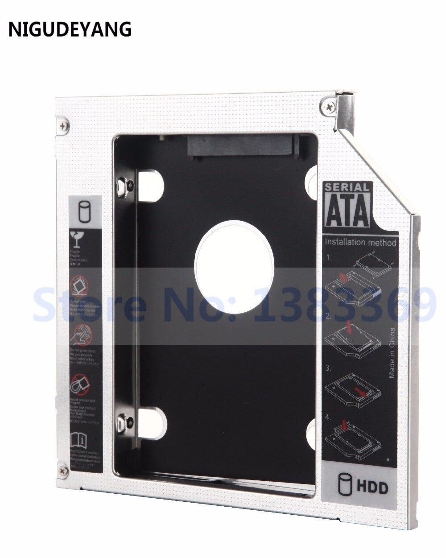 US $7 19 40% OFF NIGUDEYANG NEW SATA 12 7mm 2nd Hard Drive HDD HD SSD Caddy  Adapter for HP Elitebook 8460p 8470p 8560p 8570p 8760p-in HDD Enclosure