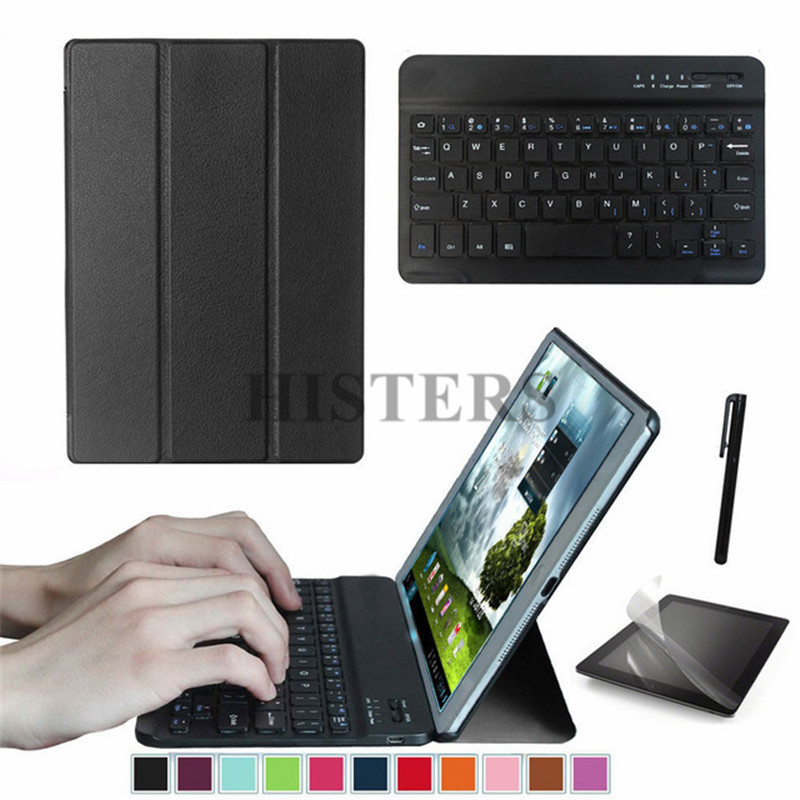 Accessory Kit For Samsung Galaxy Tab A 8.0 2018 SM-T387V SM-T387 - Magnetic Cover Case+Bluetooth Keyboard