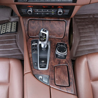 Rose Wood Grain ABS Center Console Gear Shift Panel Cover Trim Car Accessories For BMW 5 Series F10 2011 2016 Left Hand Drive