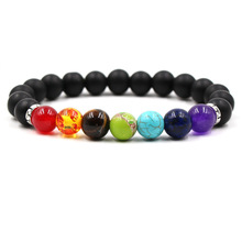 Fashion Charm Howlite Stone And Volcanic Rock Lava Natural Bracelet For Men Jewelry Accessories Gift Bohemia