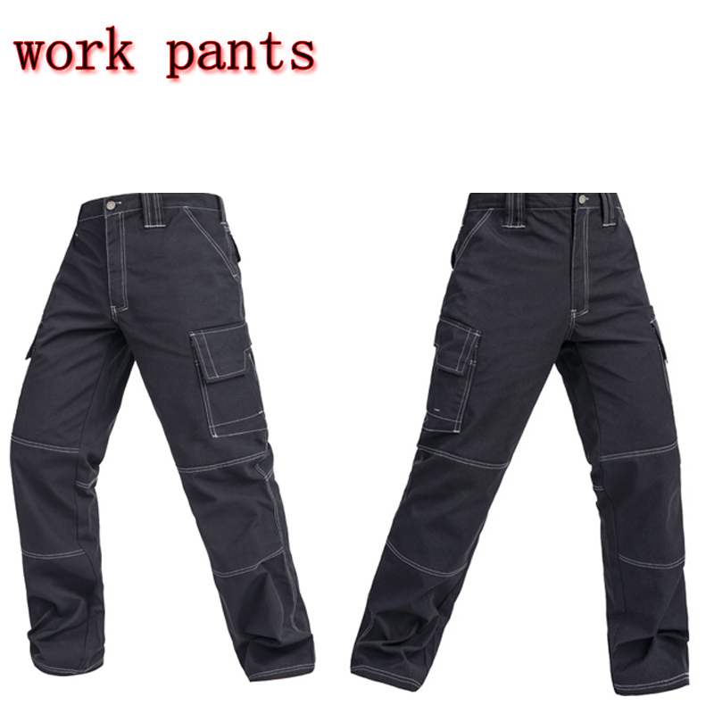 2018 New Men working pants multi pockets work trousers cargo work mechanic cargo Multi-pocket polyester work pants XXXL B307
