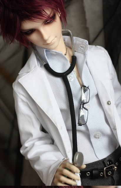 c4a06240451 White Doctor Overall Coat for 1 4 1 3 SD17 Uncle BJD Doll SD MSD ...