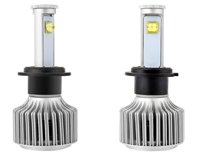 Car Headlight Vehicle Headlamp LED Headlight Bulbs All-in-one Conversion Kit Cold White Led H7 6000K X7 Auto Front Fog Light