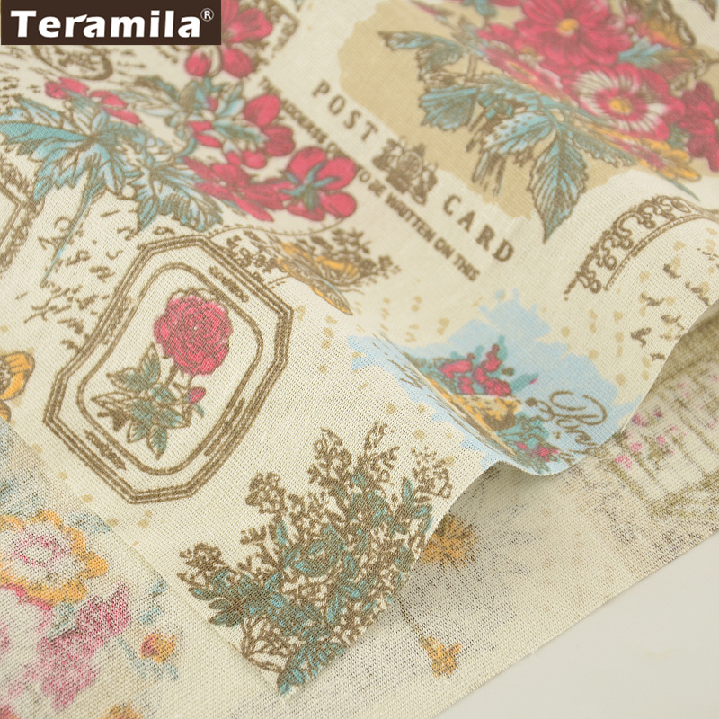 Material de costura tejido estampado de flores bolso de la almohadilla mantel co