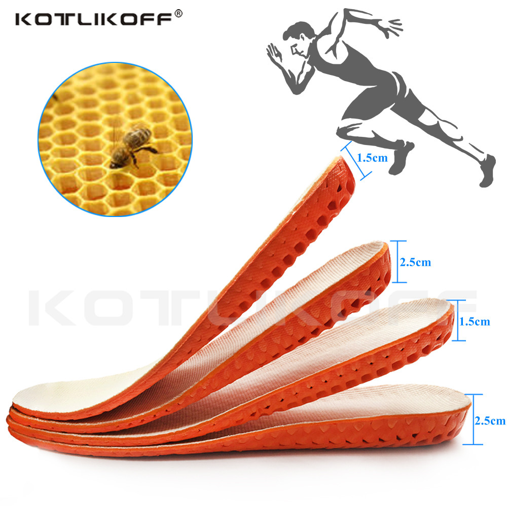 Height Increase Insole Pad Cushion Height Lift Breathable Honeycomb For Men Women Reduce Muscular Ache Pain Insert Insole PadsHeight Increase Insole Pad Cushion Height Lift Breathable Honeycomb For Men Women Reduce Muscular Ache Pain Insert Insole Pads
