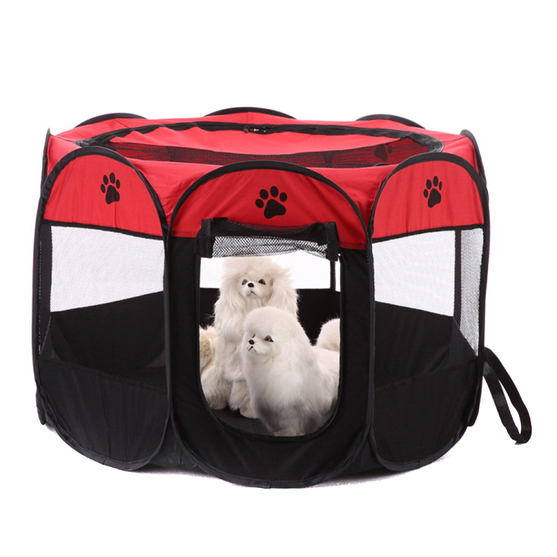 Portable Foldable Puppy Dog Pet Cat Rabbit Fabric Playpen Crate Cage Kennel Tent Pet Supplies TB Sale