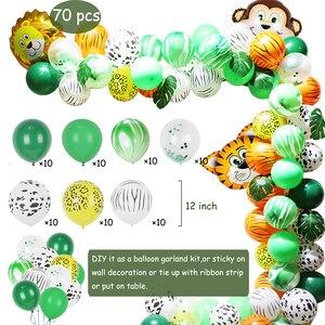 Image 2 - Jungle Zoo Safari Party Supplies Decoration Kit Animal Foil Balloons Latex Forest Wild Animal Birthday Kids Baby Shower Decor