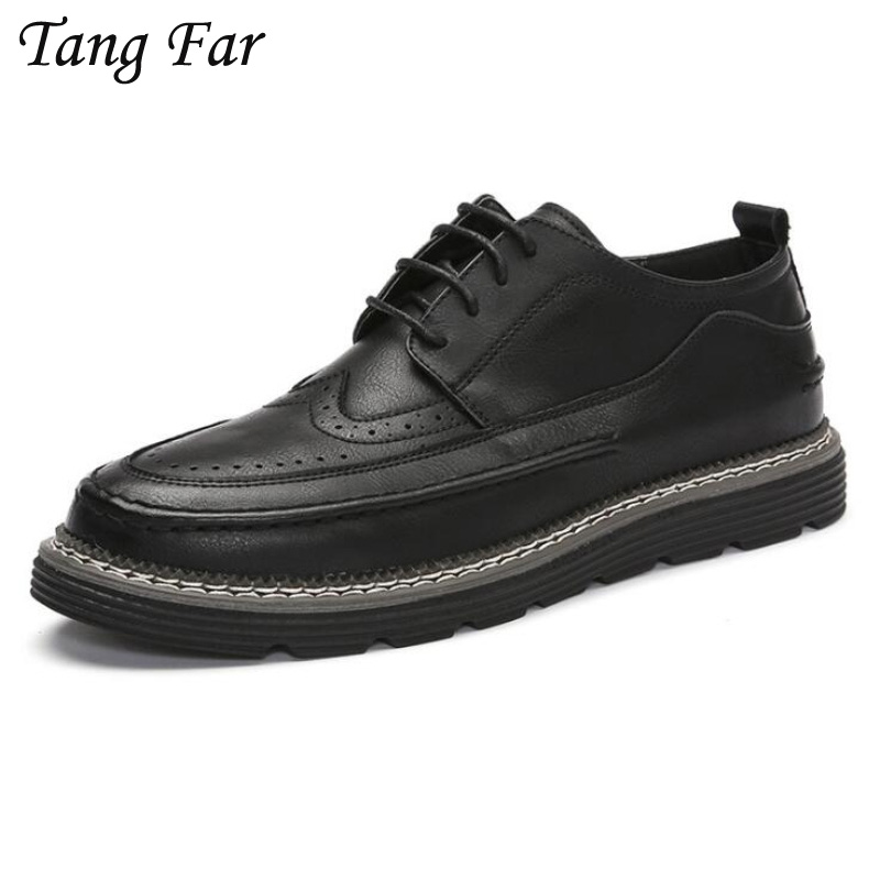 Italian Leather Classic Men Dress Shoes Vintage Mens Formal Party Flats Shoes Office Oxfords Pointed Toe