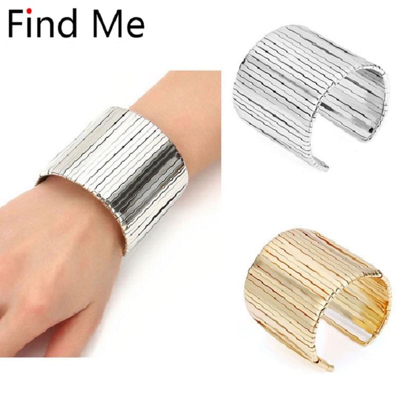 Elegant Alloy Silver Cuff Bracelet Bangle Wristband Women Fashion Jewelry