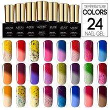 AZURE BEAUTY Temperature Hybrid Gel Polish Nail Paint Soak off UV LED Gel Vernis Thermo Chameleon Gel Nail polish 24pcs/lot
