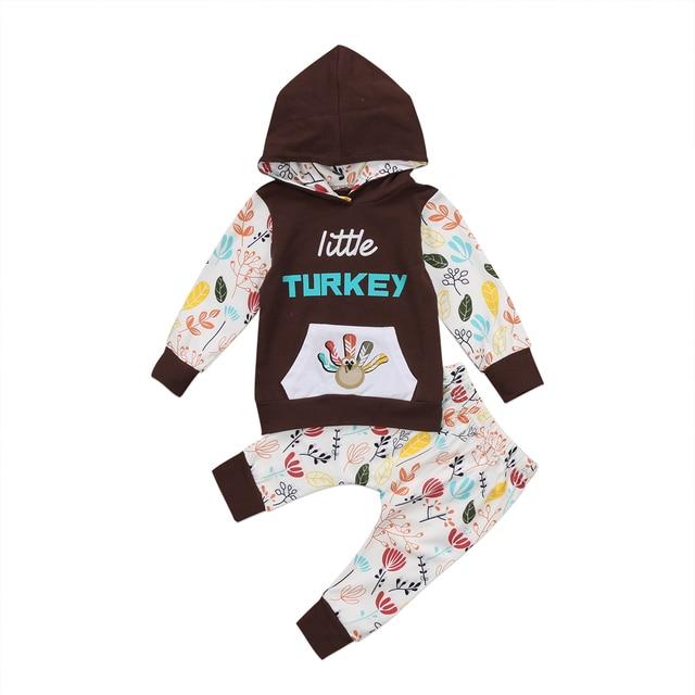 c2732c449de7 Kids Baby Girls Clothes Set Hooded 2018 Autumn Long Sleeve Pockets ...