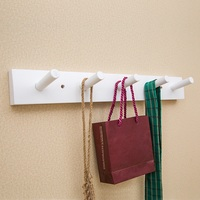 5 Hooks Clothes Hat Bag Holder Wooden Coat Hanger Wall Mounted Rack Home Organizer Bath Towels Storage Rack