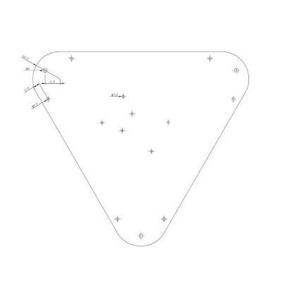 24c0af2a312ed1 ⊰180mm Kossel top plate - a453