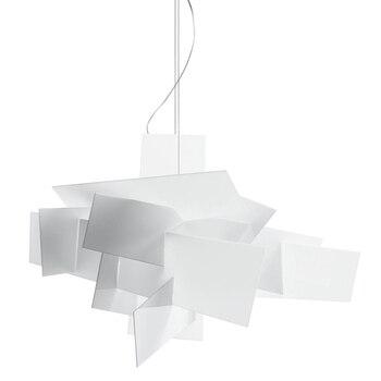 Moderne simple LED acrylique pendentif lumières créatif géométrie forme design rouge blanc abat-jour salon chambre étude lampe à LED JINLE