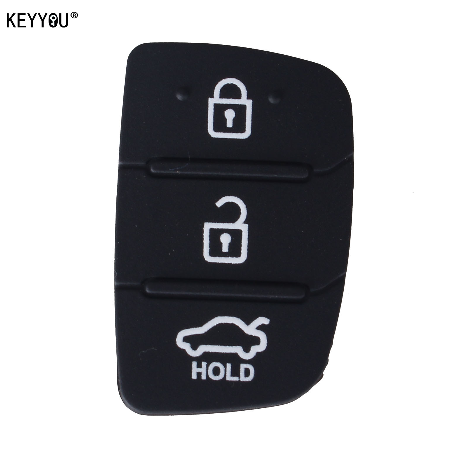 KEYYOU 50pcs/lot Auto Parts Replacement Rubber Case Car Key Pad For Hyundai 3 Buttons Key Shell Blank Cover-in Car Key from Automobiles & Motorcycles    1