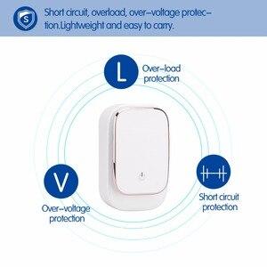 Image 4 - Powstro 3 port led lâmpada usb carregador adaptador 5 v 3.4a max 2 em 1 parede de viagem ue & eua auto id carregador de telefone móvel para iphone samsung